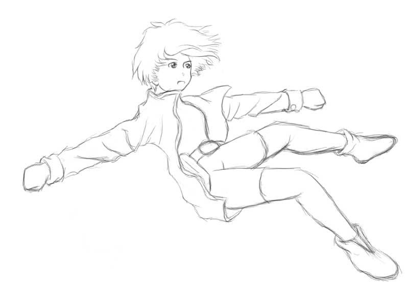 Girl Falling Drawing Falling Girl